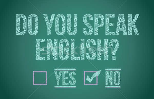 Do you speak english  Stock photo © alexmillos