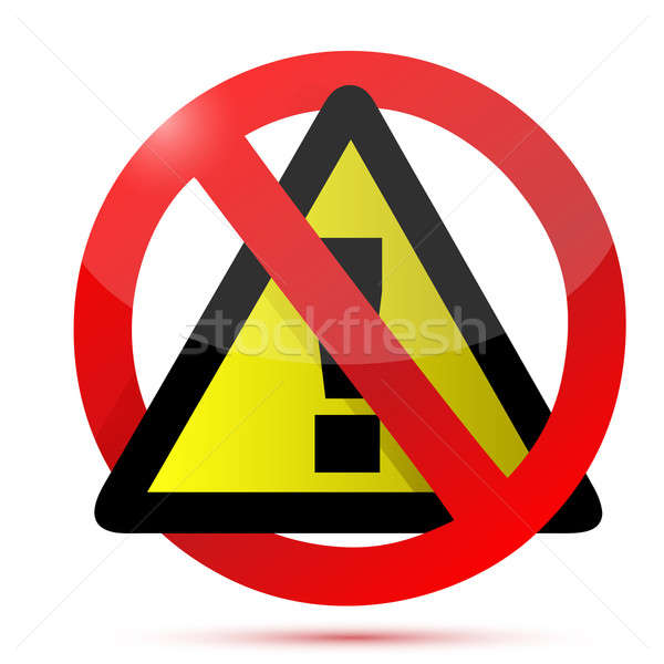 Dont warning sign illustration design Stock photo © alexmillos