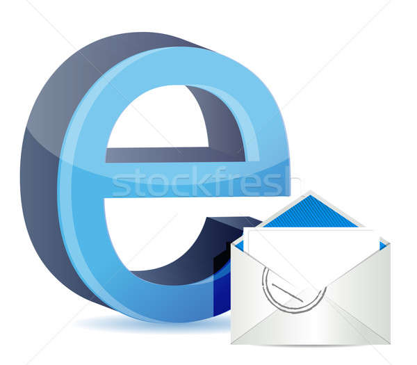 E for internet and mail  Stock photo © alexmillos
