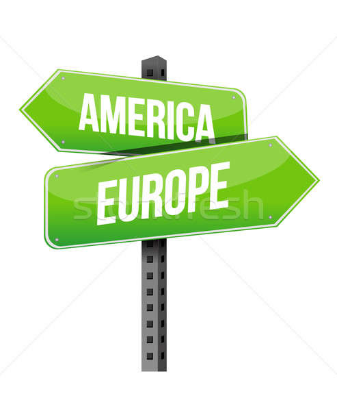 America and Europe sign Stock photo © alexmillos