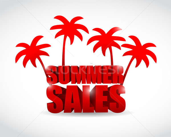 summer sale sign illustration design Stock photo © alexmillos