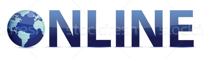 青 言葉 を 世界中 実例 コンピュータ ストックフォト © alexmillos