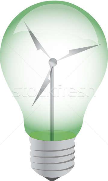 Ekolojik ampul örnek dizayn ışık lamba Stok fotoğraf © alexmillos