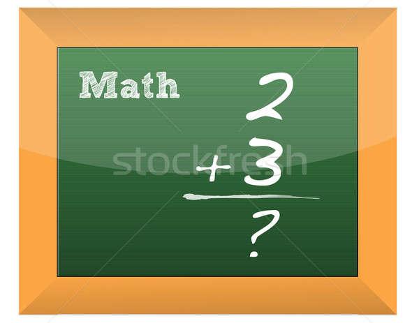 Einfache math Formel geschrieben Tafel Schule Stock foto © alexmillos