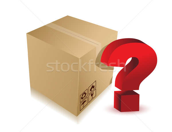 unknown content box with question mark Stock photo © alexmillos