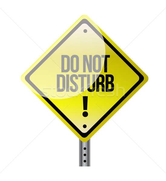 do not disturb sign illustration design over white Stock photo © alexmillos