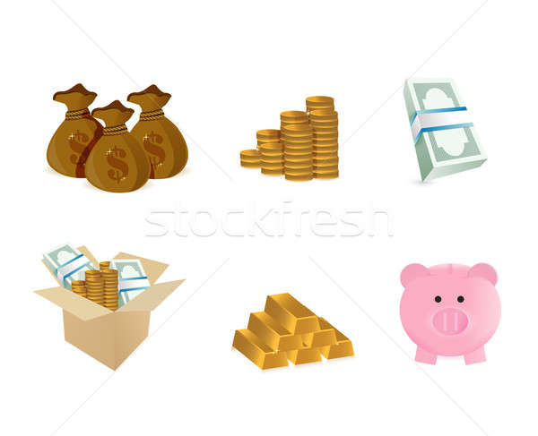 monetary symbol illustration design over a white background Stock photo © alexmillos