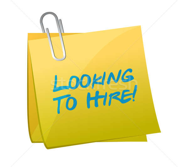 looking to hire post illustration design over a white background Stock photo © alexmillos