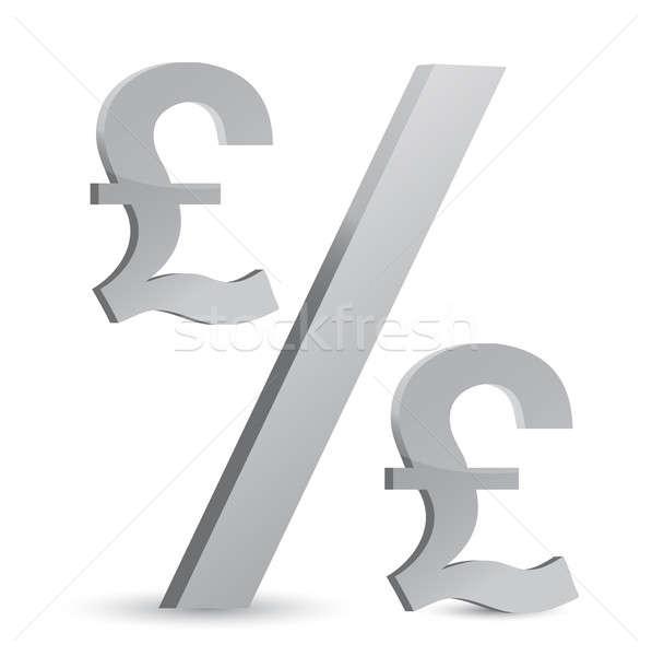 фунт валюта процент символ иллюстрация дизайна Сток-фото © alexmillos