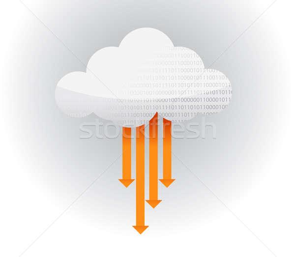 転送 雲 アイコン 実例 ストックフォト © alexmillos