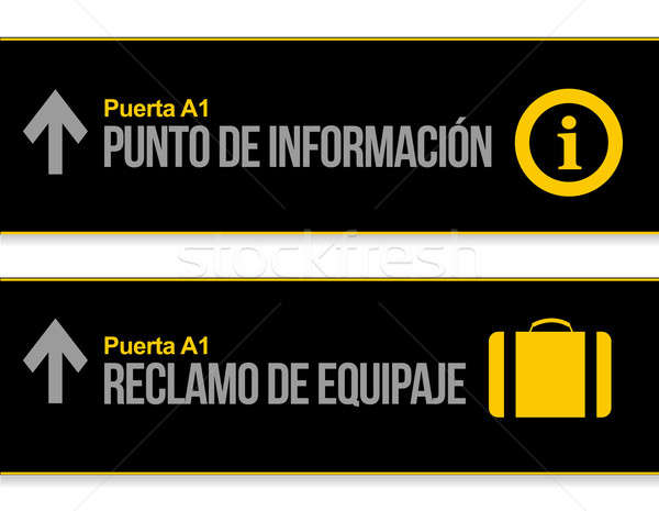 Help desk and baggage airport signs in Spanish  Stock photo © alexmillos