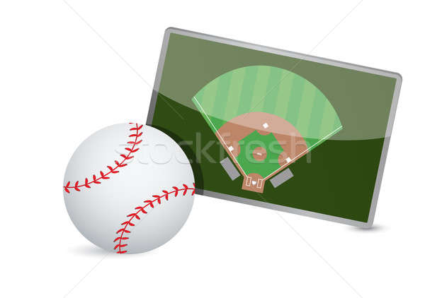 Baseball field tactic table, Baseball balls  Stock photo © alexmillos