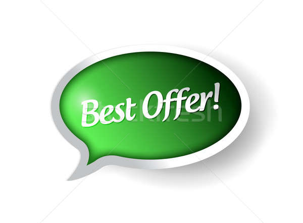 Best offer message bubble illustration  Stock photo © alexmillos