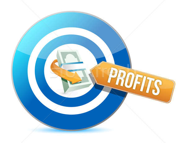 Target profits. concept illustration  Stock photo © alexmillos