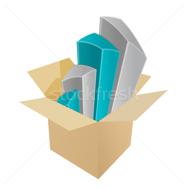 Business charts coming out of a box Stock photo © alexmillos