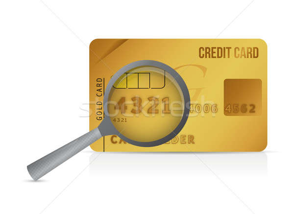 Credit card magnify glass illustration design Stock photo © alexmillos