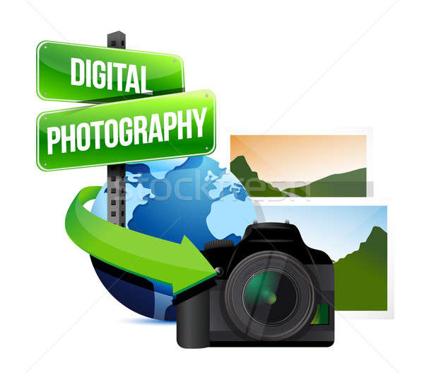 Digital photography concept illustration Stock photo © alexmillos