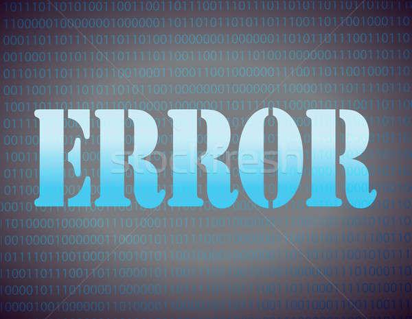 Errore di messaggio blu Foto d'archivio © alexmillos