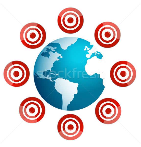 Zdjęcia stock: świecie · cel · znaki · około · sportu · zabawy