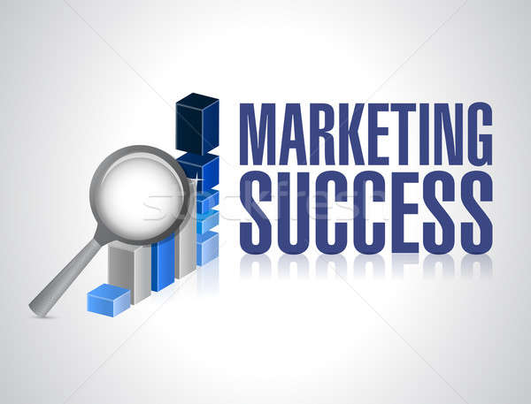 Marketing success graph investigation  Stock photo © alexmillos
