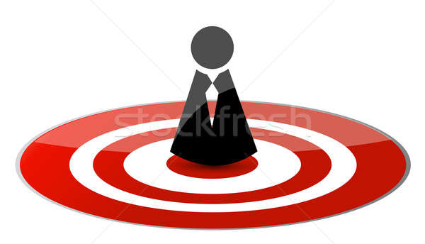 Target icon avatar illustration design  Stock photo © alexmillos