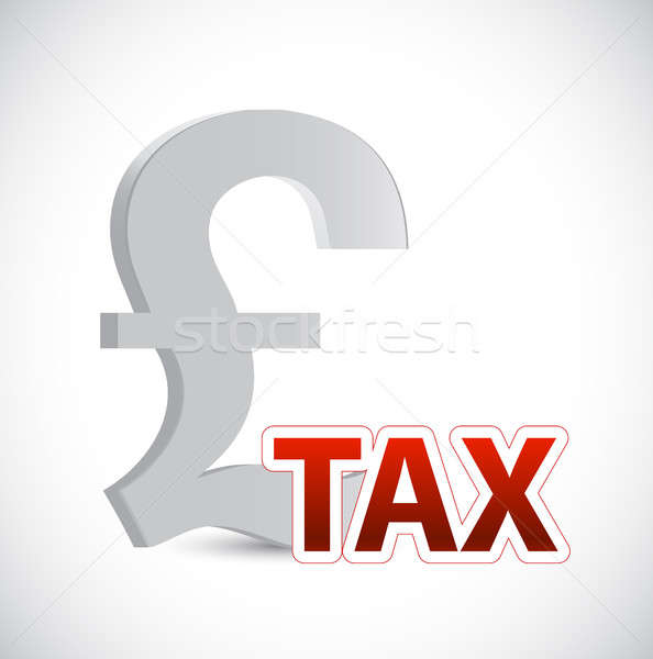 Pound currency tax sign concept illustration Stock photo © alexmillos