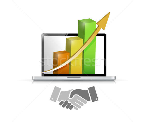 business computer agreement handshake concept Stock photo © alexmillos