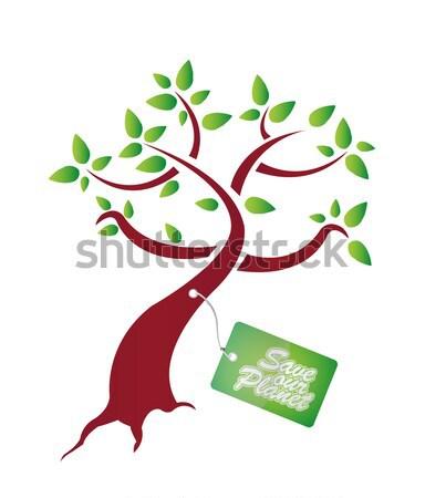 растущий дерево почвы иллюстрация дизайна графических Сток-фото © alexmillos