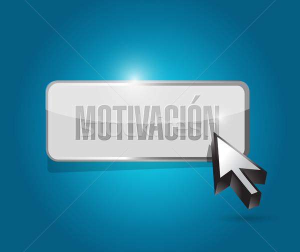 Motivação botão assinar espanhol ilustração projeto Foto stock © alexmillos