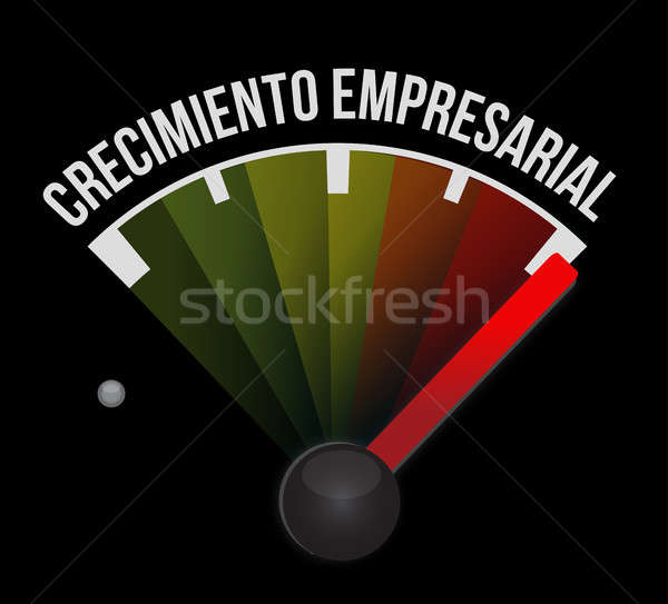 Business Growth meter sign in Spanish. Stock photo © alexmillos