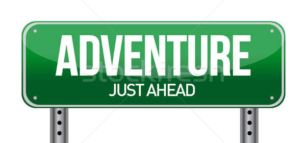 adventure road sign Stock photo © alexmillos
