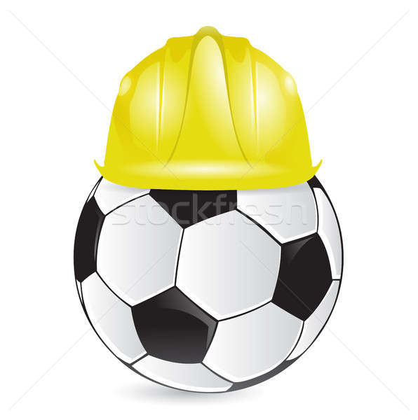 soccer training construction illustration design Stock photo © alexmillos