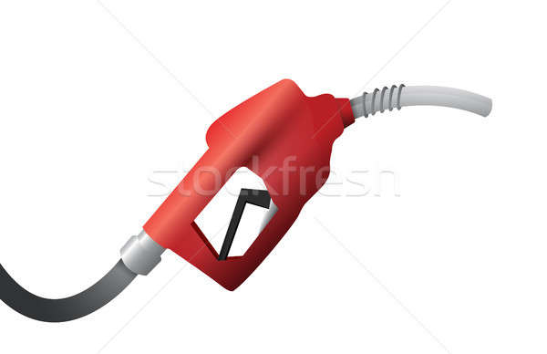 gas pump handle illustration design over a white Stock photo © alexmillos