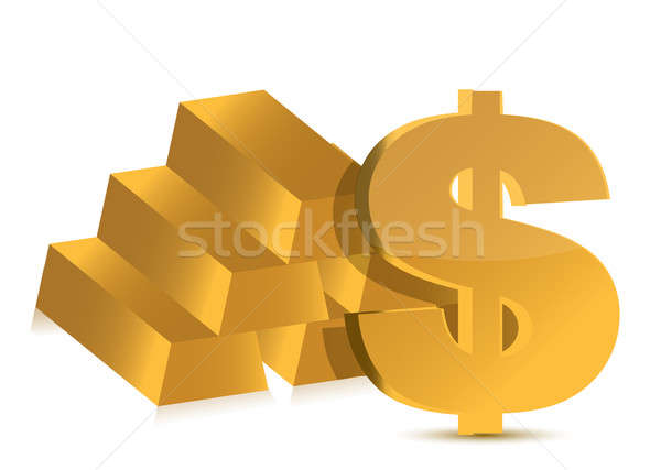 Commodities and cash investments illustration Stock photo © alexmillos