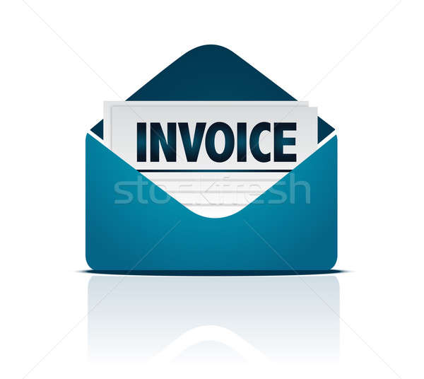 invoice with envelope  Stock photo © alexmillos