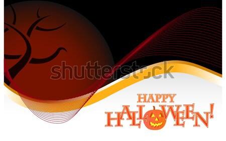 Ciemne halloween ilustracja projektu biały strony Zdjęcia stock © alexmillos