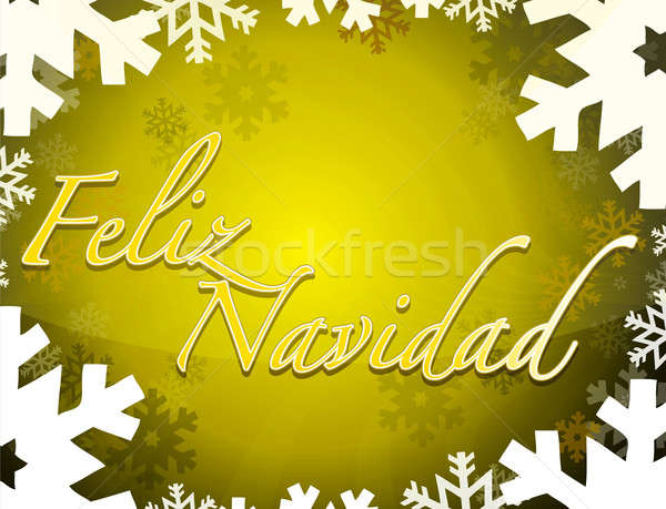 Spanish - Merry christmas themed background Stock photo © alexmillos
