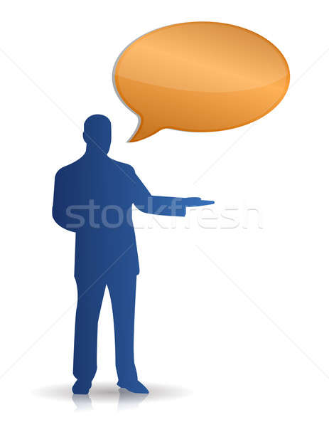 Stock photo: Message Bubbles isolated over a white background
