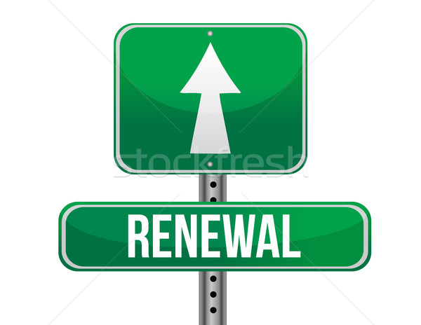 renewal road sign illustration design over a white background Stock photo © alexmillos