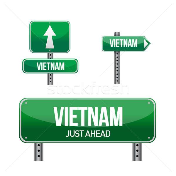 Viêt-Nam signe illustration design blanche Photo stock © alexmillos