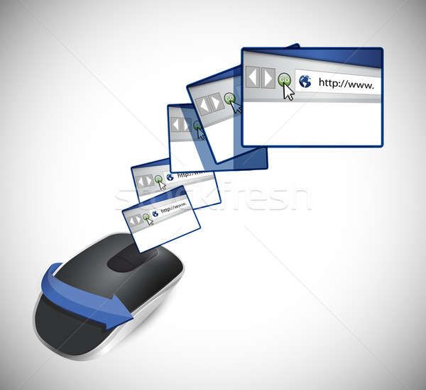 browsers and Wireless computer mouse isolated on white backgroun Stock photo © alexmillos