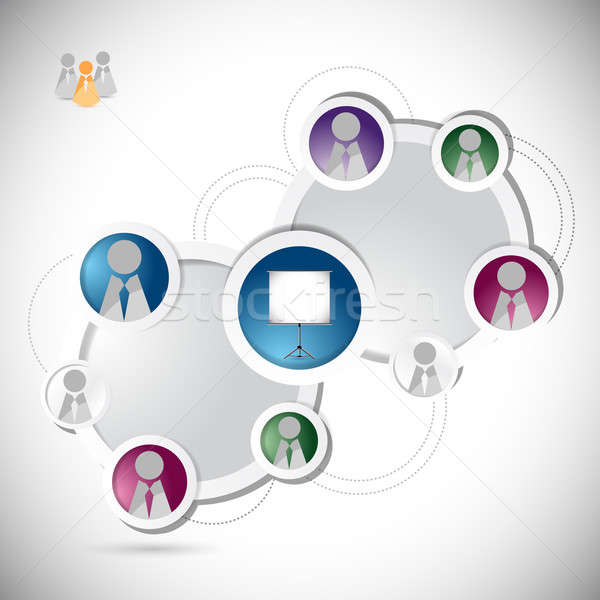 online training student network concept illustration design over Stock photo © alexmillos