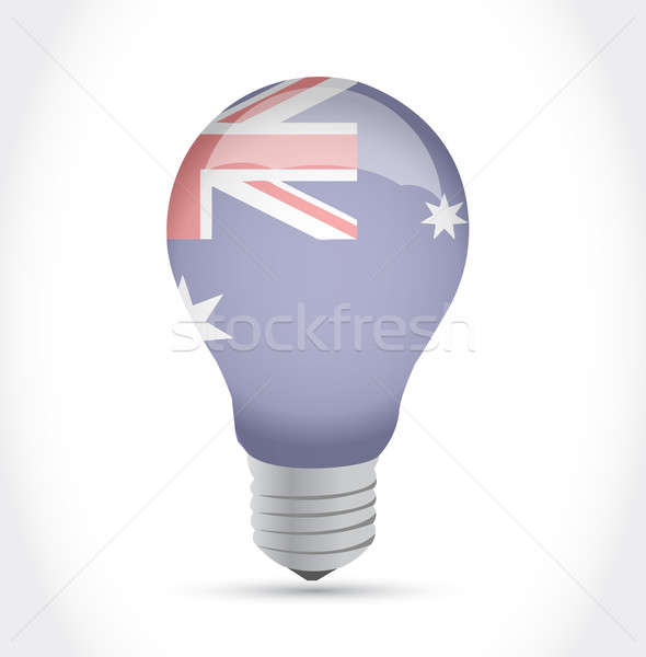 Australian flag idea light bulb illustration Stock photo © alexmillos