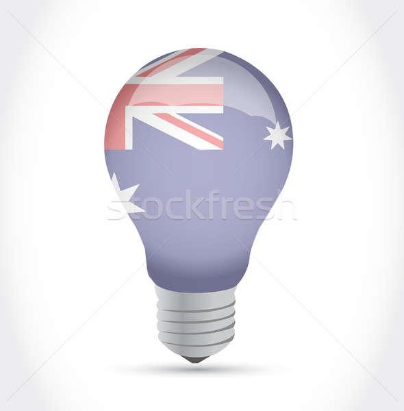 Australian flag idea light bulb illustration Stock photo © alexmillos