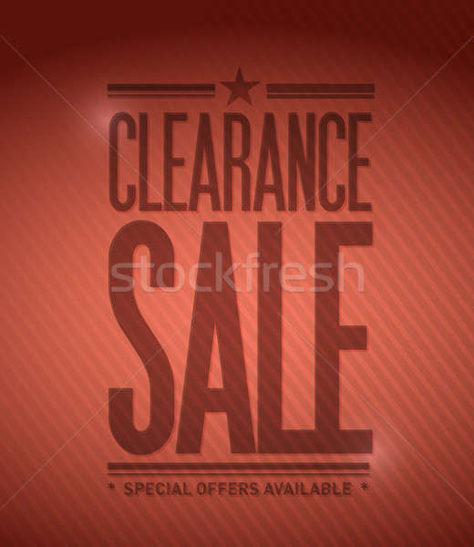 Clearance sale concept illustration Stock photo © alexmillos