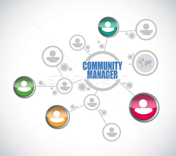 Community Manager people diagram sign concept Stock photo © alexmillos