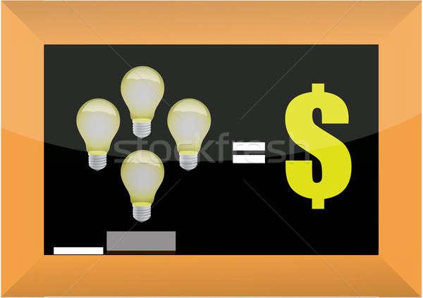 Stock photo: good ideas make money concept illustration design