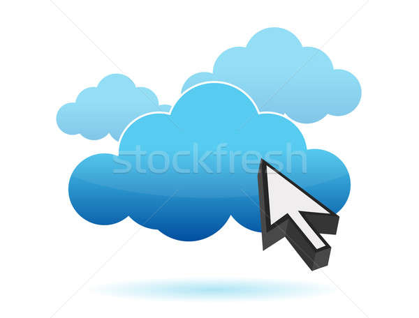 Cloud icoon illustratie ontwerp internet technologie server Stockfoto © alexmillos