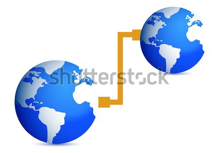 Earth at risk boom concept. illustration design Stock photo © alexmillos