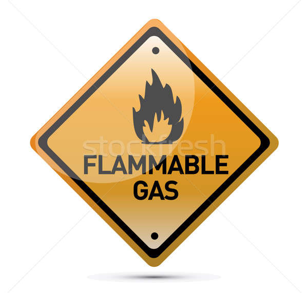 Inflammable gaz danger illustration design Photo stock © alexmillos